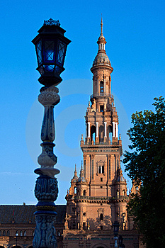 Tower Of Plaza De Espana, Seville Royalty Free Stock Images - Image: 21980529
