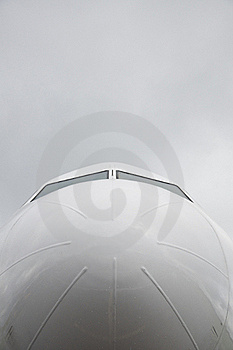 Airplane Front View Stock Photo - Image: 21980770