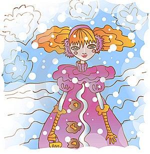 Girl In Coat Royalty Free Stock Image - Image: 21983216
