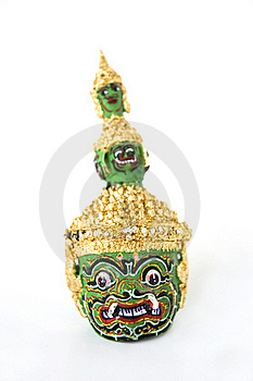 Thai Classical Dance Giant Head Royalty Free Stock Image - Image: 21986766