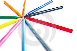 Colorful Markers Pens Stock Photo - Image: 21993060
