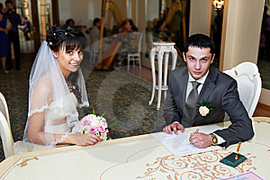 Solemn Registration Of Marriage Stock Photo - Image: 21998000