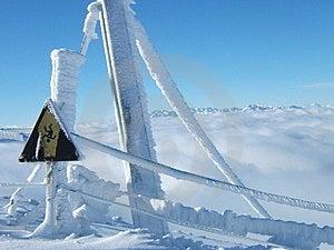 Snowsignal Stock Image