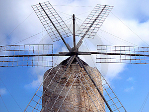 Spanish Windmill Free Stock Photography