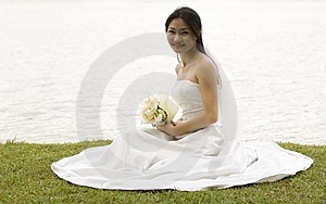 Asian Bride 1 Stock Photography