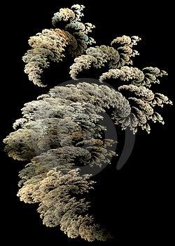 Flame fractal smoke cloud Stock Images