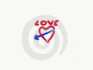 Love Sign Paint Stock Photos