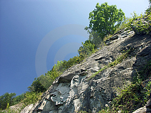 Rocky slope Royalty Free Stock Photography