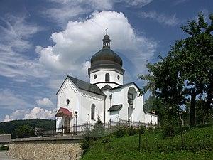 Белая церковь Стоковые Фото