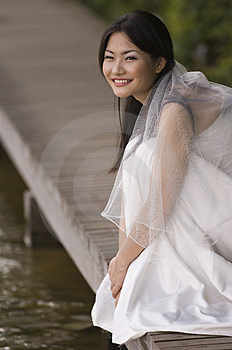 Outdoor Bride 6 Free Stock Photography