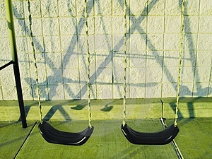 Swingset And It's Shadow Stock Image
