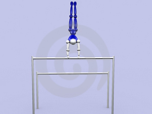 Athlet On Parallel Bars Stock Photo