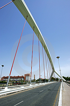 Abstract, Modern Bridge In Seville, Southern Spain Free Stock Image