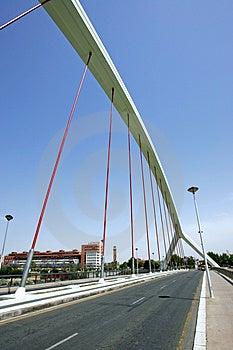 Pont abstrait et moderne en Séville, Espagne du sud Image libre de droits
