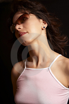 Beautiful Girl With Sunglasses 03 Stock Photos