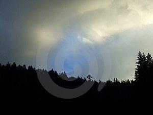Montaña 1 del cielo Fotografía de archivo