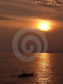 Sunset In The Philippines Free Stock Photos