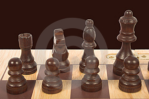Close Up Of A Chess Set Free Stock Images