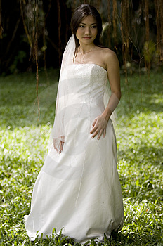 Tropical Bride Free Stock Images