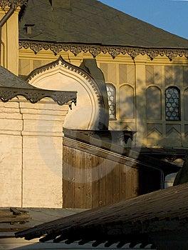 Fragment orthodoxe de cathédrale Images libres de droits
