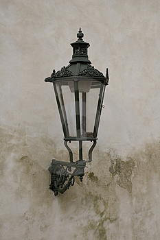 Lamp in prague Royalty Free Stock Photography