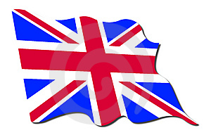 United kingdom flag Royalty Free Stock Photography