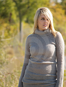Blonde Model Outside Royalty Free Stock Photo - Image: 2205445