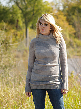 Blonde Model Outside Royalty Free Stock Image - Image: 2205446