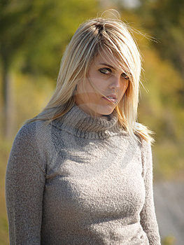 Blonde Model Outside Stock Images - Image: 2205474