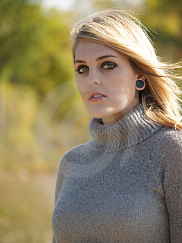 Blonde Model Outside Royalty Free Stock Photography - Image: 2205477