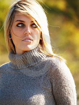 Blonde Model Outside Royalty Free Stock Image - Image: 2205486