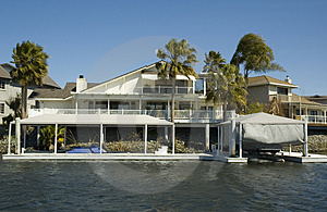 Executive House On The Water Stock Image - Image: 2209351
