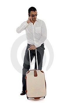Man Waiting At The Airport Royalty Free Stock Photo - Image: 22001255