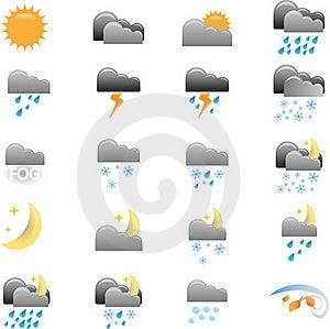 Weather Icons Stock Image - Image: 22006041