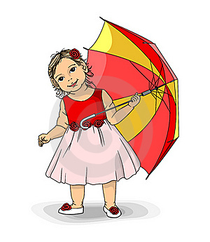 Girl With Umbrella Royalty Free Stock Photos - Image: 22009858