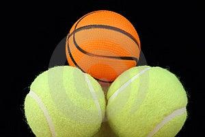 Basketball On Tenis Balls Stock Photography - Image: 22009922