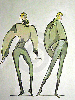 Hand-drawn Sketch Of A Fashion Stock Images - Image: 22011874