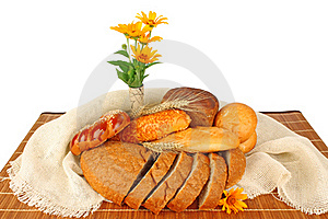 Bread Composition Royalty Free Stock Photos - Image: 22018018
