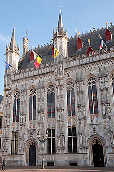 Town Hall At Brugge - Belgium Stock Photo - Image: 22027030