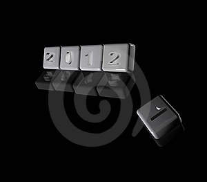 2012 New Year Butons Stock Photos - Image: 22028593