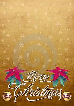 Beautiful Christmas Card - Poster Template Stock Photos - Image: 22029423