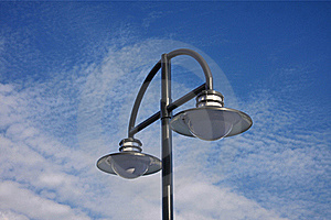 Street Lamp On Blue Sky Stock Photo - Image: 22030060