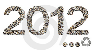 2012 Happy New Year With Conservation Royalty Free Stock Image - Image: 22031526