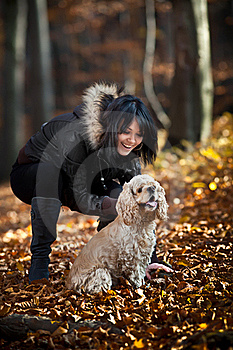 Girl And Cocker Spaniel Stock Images - Image: 22034774