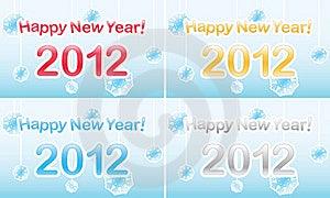 New Year 2012 Stock Photos - Image: 22036003