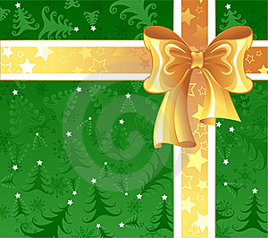 Yellow Ribbon On A Green Background Stock Images - Image: 22037454