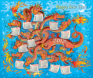 Dragon With Twelve Heads Royalty Free Stock Photo - Image: 22039025