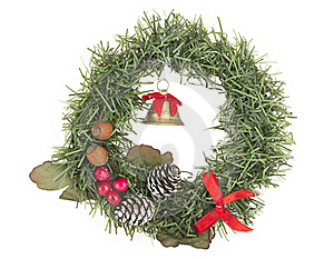 Christmas Wreath Decoration Stock Images - Image: 22039964