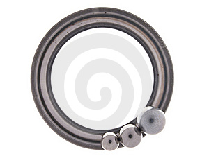Bearing Part Of The Round In A Ring With  Balls Stock Photography - Image: 22040442