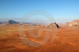 Wadi Rum Desert From Above. Jordan Royalty Free Stock Photos - Image: 22042868